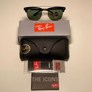 Ray-Ban RB3416 Clubround Double Bridge Black Gold